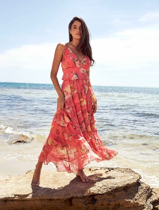 Ever New Delilah Ruffle Midi Dress