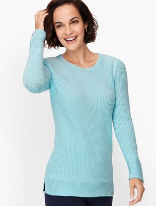 Talbots Dream Tweed Zip Cuff Sweater