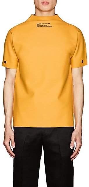 Calvin Klein Men's Logo Latex Shirt - Yellow Size L
