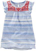 Osh Kosh Toddler Girl Puff Print Flutter Sleeve Tunic