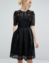 Ted Baker Engineered Lace Dress with Full Skirt