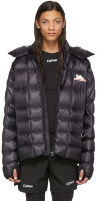 Off-White Black Down Packable Puffer Jacket