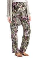 Glam Pink & White Abstract Dots Straight-Leg Maternity Pants