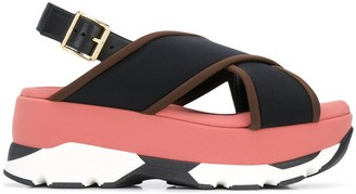 Marni Wedge buckled sandals
