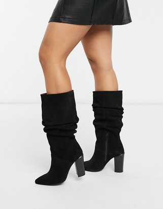 Bronx suede slouch knee boots