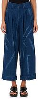 Yohji Yamamoto Women's Tie-Dyed Chambray Pants