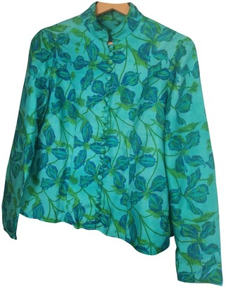 No Name Multicolour Silk Top for Women Vintage