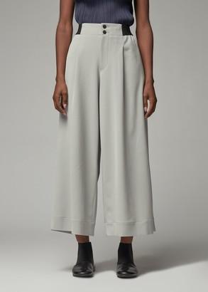 Issey Miyake Women's Wide Leg Pant in Light Grey Size 1 Triacetate/Polyester/Polyurethane