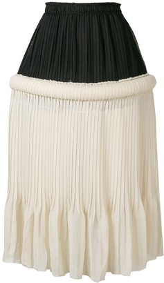 J.W.Anderson drop-waist knife-pleat skirt