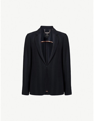 Ted Baker Daryaa striped relaxed-fit satin blazer