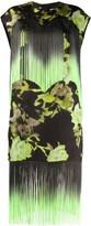 MSGM Floral-Print Fringe Dress