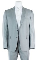 Versace Gray Wool Blend Two Button Suit W/ Pants.