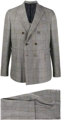 Eleventy plaid print suit