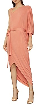 BCBGMAXAZRIA Single-Sleeve Belted Dress