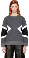 Neil Barrett Grey Zebra Modernist Sweatshirt