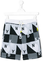 DKNY logo print swim shorts - kids - Polyester - 16 yrs