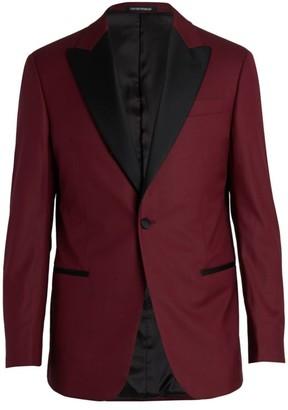 Emporio Armani Contrast Peak Lapel Dinner Jacket