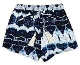 Vintage Havana Girls' Tie-Dye Shorts - Big Kid