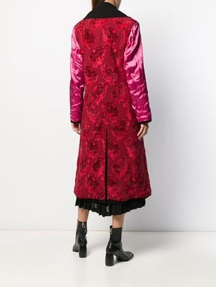 Junya Watanabe Mix Fabric Double-Breasted Coat
