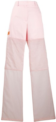 Heron Preston contrast panel high-waisted trousers
