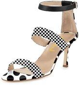 FSJ Women Straps High Heel Sandals Open Toe Ankle Buckle Sandals Size 8