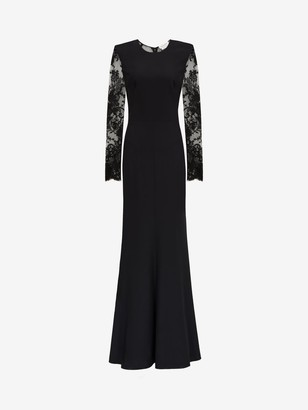 Alexander McQueen Lace Evening Dress
