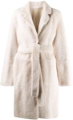 Yves Salomon Reversible Belted Coat