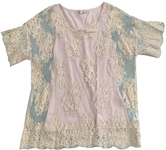 P.A.R.O.S.H. Beige Cotton Top for Women