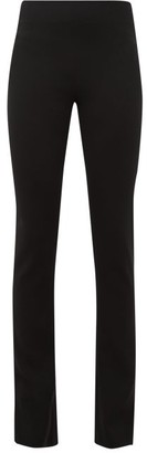 Galvan Slashed Tuxedo Slim-leg Split-hem Crepe Trousers - Womens - Black