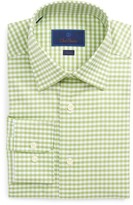 David Donahue Men's Trim Fit Gingham Dress Shirt