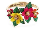 Betsey Johnson Women's Floral Statement Hinge Bracelet