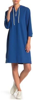 Alternative Quarter Zip Hoodie Dress