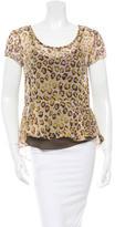 Gryphon Silk Chiffon Leopard Print Top w/ Tags