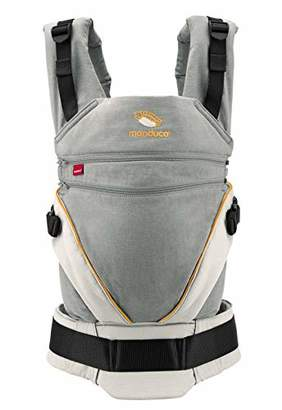 manduca XT grey- orange Baby Carrier with Adjustable Seat, 3 Carrying Positions (Front, Hip & Back), No Infant Insert Needed, Organic Cotton, Grows with your Baby from Birth to Toddler (3.5- 20kg)