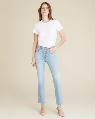 Veronica Beard Carolyn High-Rise Cropped-Flare Jean