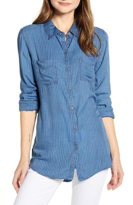 Caslon Stripe Chambray Shirt