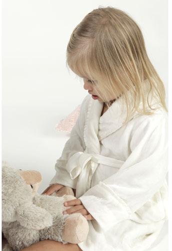 Childs Alesandra Silk Robe in White