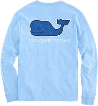 Vineyard Vines Mini Snowflakes Whale Fill Long-Sleeve Pocket T-Shirt