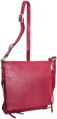 Nino Bossi Handbags Women's Handbags Cabernet - Cabernet Fion Leather Crossbody Bag
