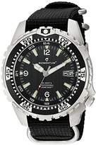 Momentum Men's Quartz Stainless Steel and Nylon Watch, Color:Black (Model: 1M-DV06B7B)