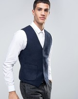 French Connection Plain Flannel Waistcoat