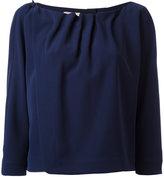 Armani Collezioni pleated trim blouse