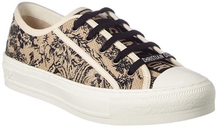 Christian Dior Walk'n'dior Embroidered Toile De Jo Sneaker