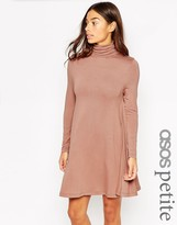 Asos Swing dress with Turtleneck and Long Sleeves