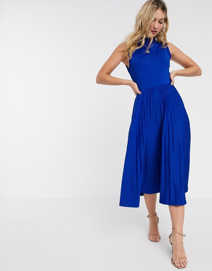 Ted Baker Crimsin Sleeveless Jersey Dress in Blue in blue