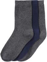 Joe Fresh Kid Boys' 3 Pack Crew Socks, Charcoal (Size 11-2)