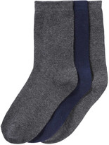 Joe Fresh Kid Boys' 3 Pack Crew Socks, Charcoal (Size 3-6)