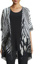 Caroline Rose Summer Safari Short-Sleeve Cardigan, Plus Size