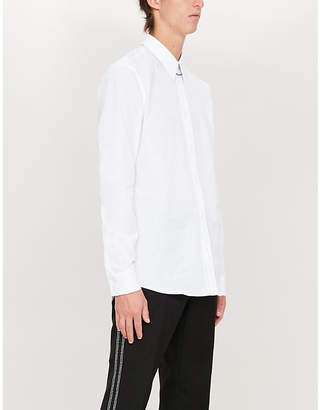 Givenchy Signature-embroidered slim-fit cotton shirt
