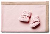 Baby Blanket and Bootie Set, Pink/Beige